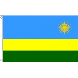 Rwanda National Flag - Budget 5 x 3 feet Flags - United Flags And Flagstaffs