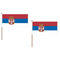 Serbia Fabric National Hand Waving Flag