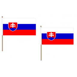 Slovakia Fabric National Hand Waving Flag Flags - United Flags And Flagstaffs