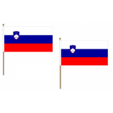 Slovenia Fabric National Hand Waving Flag Flags - United Flags And Flagstaffs