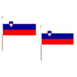 Slovenia Fabric National Hand Waving Flag