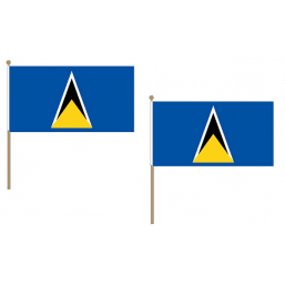 St Lucia National Hand Waving Flag Flags - United Flags And Flagstaffs