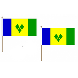 St Vincent and Grenadines National Hand Waving Flag Flags - United Flags And Flagstaffs