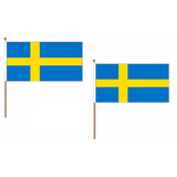 Sweden Fabric National Hand Waving Flag