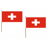 Switzerland Fabric National Hand Waving Flag Flags - United Flags And Flagstaffs