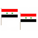 Syria Fabric National Hand Waving Flag Flags - United Flags And Flagstaffs