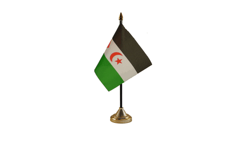 Sahrawi Table Flag Flags - United Flags And Flagstaffs