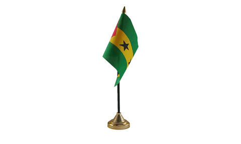 Sao Tome et Principe Table Flag Flags - United Flags And Flagstaffs