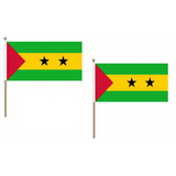 Sao Tome et Principe Fabric National Hand Waving Flag