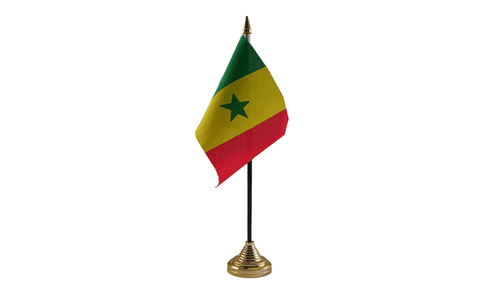 Senegal Table Flag Flags - United Flags And Flagstaffs