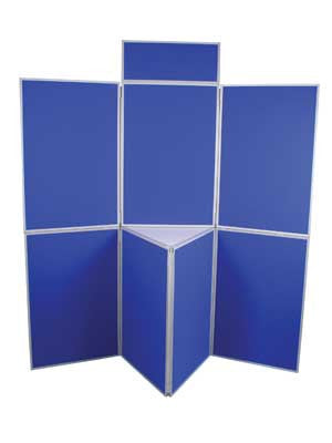 Folding Panel Exhibition Kit - 7 Panel Banners - United Flags And Flagstaffs