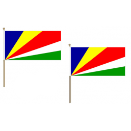 Seychelles Fabric National Hand Waving Flag