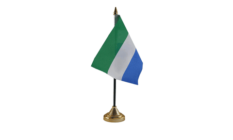 Sierra Leone Table Flag Flags - United Flags And Flagstaffs
