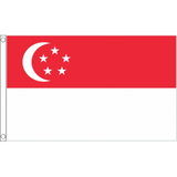 Singapore National Flag - Budget 5 x 3 feet Flags - United Flags And Flagstaffs