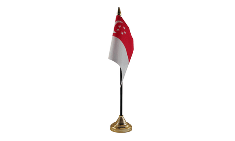 Singapore Table Flag Flags - United Flags And Flagstaffs