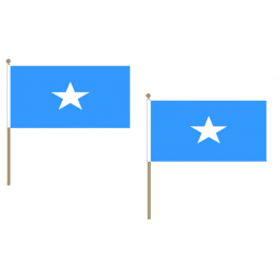 Somalia Fabric National Hand Waving Flag Flags - United Flags And Flagstaffs