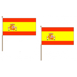 Spain (State) Fabric National Hand Waving Flag
