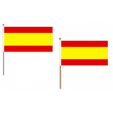 Spain (Civil) Fabric National Hand Waving Flag Flags - United Flags And Flagstaffs
