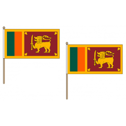 Sri Lanka Fabric National Hand Waving Flag Flags - United Flags And Flagstaffs