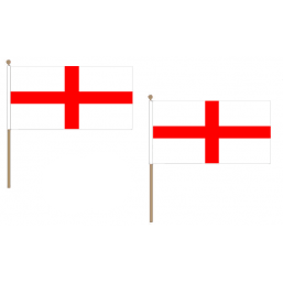 St George Fabric National Hand Waving Flag Flags - United Flags And Flagstaffs