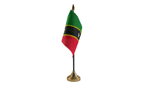 St Kitts and Nevis Table Flag Flags - United Flags And Flagstaffs
