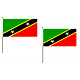 St Kitts and Nevis Fabric National Hand Waving Flag