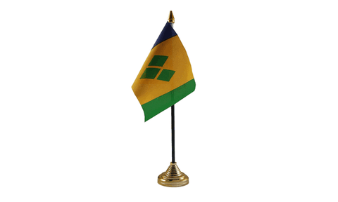 St Vincent and the Grenadines Table Flag Flags - United Flags And Flagstaffs