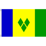 St Vincent and Grenadines National Flag - Budget 5 x 3 feet Flags - United Flags And Flagstaffs
