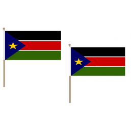 South Sudan Fabric National Hand Waving Flag Flags - United Flags And Flagstaffs
