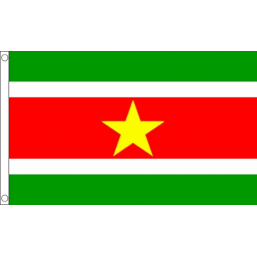 Suriname National Flag - Budget 5 x 3 feet Flags - United Flags And Flagstaffs