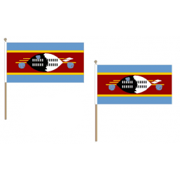 Swaziland Fabric National Hand Waving Flag