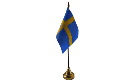 Sweden Table Flag Flags - United Flags And Flagstaffs