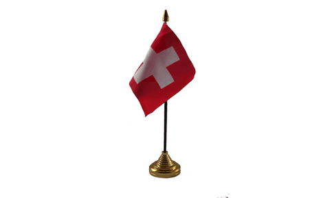Switzerland Table Flag