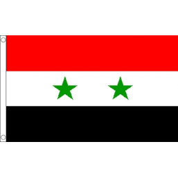 Syria National Flag - Budget 5 x 3 feet Flags - United Flags And Flagstaffs