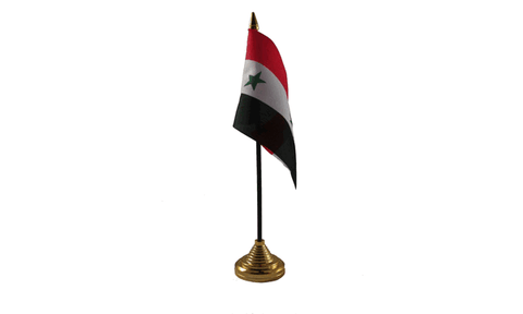 Syria Table Flag Flags - United Flags And Flagstaffs