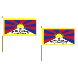 Tibet Fabric National Hand Waving Flag Flags - United Flags And Flagstaffs