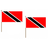 Trinidad and Tobago Fabric National Hand Waving Flag Flags - United Flags And Flagstaffs