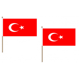 Turkey Fabric National Hand Waving Flag