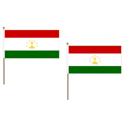 Tajikistan Fabric National Hand Waving Flag Flags - United Flags And Flagstaffs