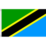 Tanzania National Flag - Budget 5 x 3 feet Flags - United Flags And Flagstaffs