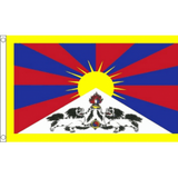 Tibet National Flag - Budget 5 x 3 feet