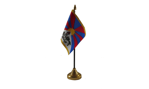 Tibet Table Flag Flags - United Flags And Flagstaffs