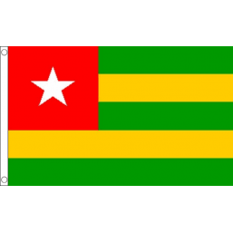 Togo National Flag - Budget 5 x 3 feet Flags - United Flags And Flagstaffs