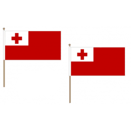 Tonga Fabric National Hand Waving Flag Flags - United Flags And Flagstaffs