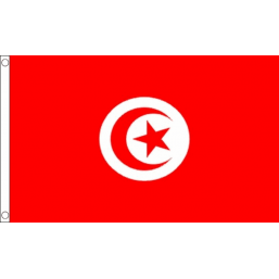 Tunisia National Flag - Budget 5 x 3 feet Flags - United Flags And Flagstaffs