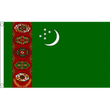 Turkmenistan National Flag - Budget 5 x 3 feet