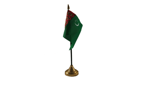 Turkmenistan Table Flag Flags - United Flags And Flagstaffs