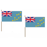 Tuvalu Fabric National Hand Waving Flag Flags - United Flags And Flagstaffs