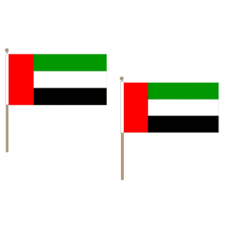 United Arab Emirates Fabric National Hand Waving Flag Flags - United Flags And Flagstaffs