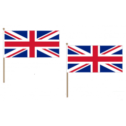 United Kingdom Fabric National Hand Waving Flag Flags - United Flags And Flagstaffs